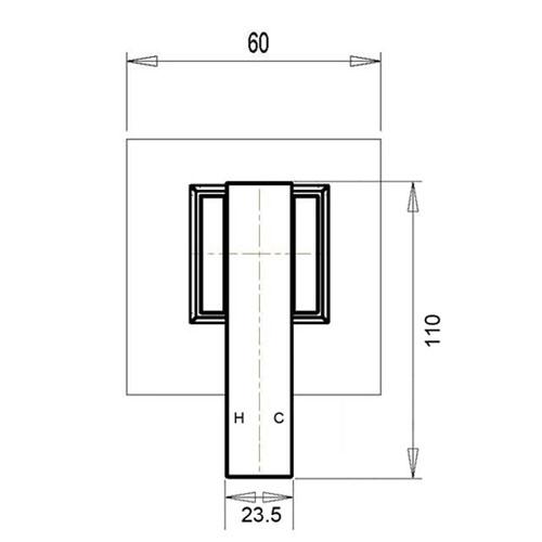 TYO-43W-Square-wall-mixer-design