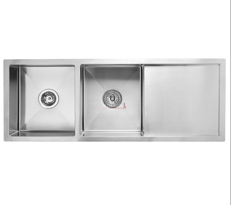 1160mm 134 Stainless Steel Sink With Drainboard Peninsula